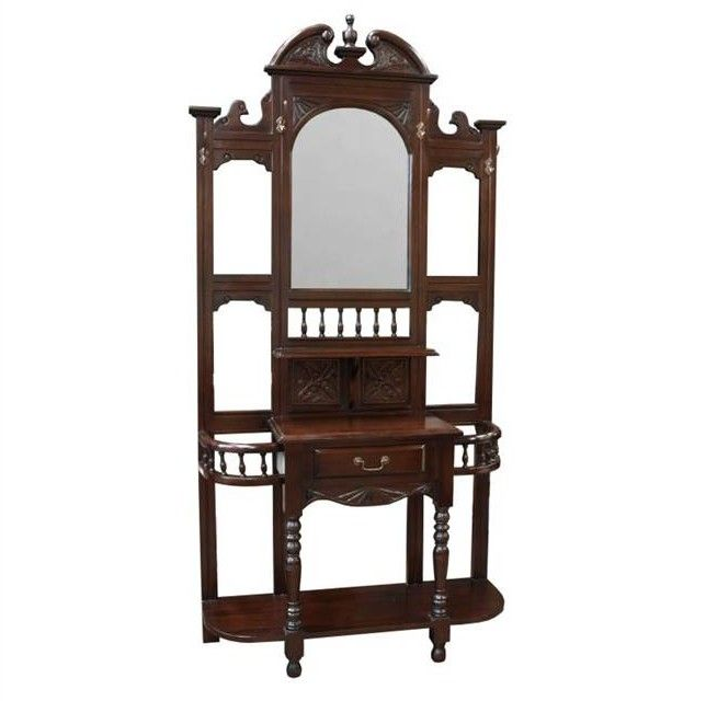 Arch Shaped Mirror, Carved Sections And Turned Legs Make This A Wonderfully  Traditional Piece Of Furniture For Your Hallway.