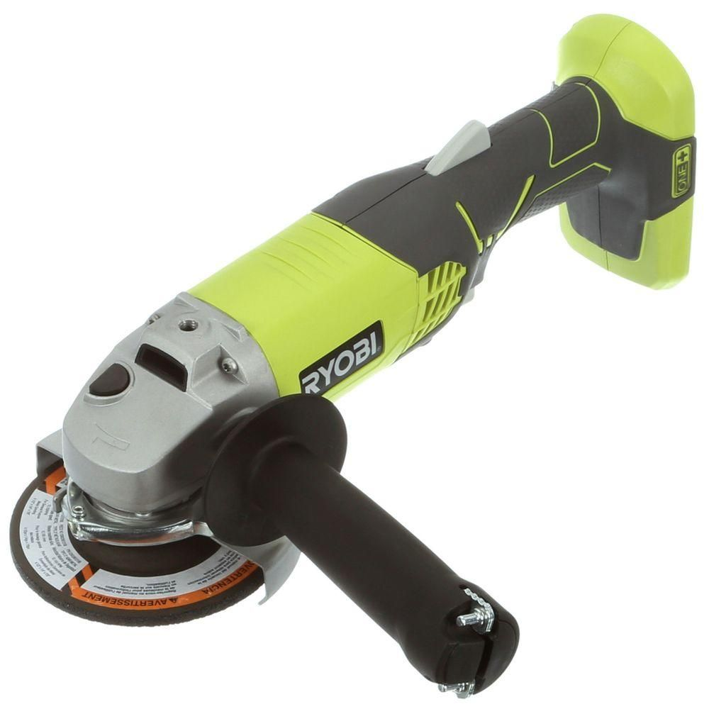 Ryobi 18 Volt One Cordless 4 1 2 In Angle Grinder Tool Only P421 The Home Depot Angle Grinder Ryobi Ryobi Power Tools
