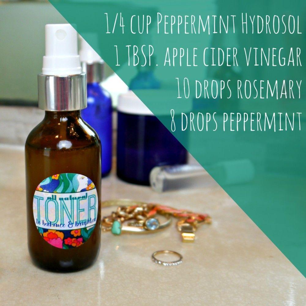 DIY Organic Toner Recipewith Apple Cider Vinegar Diy