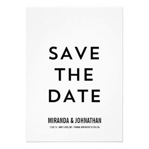 #Modern #Bold #Photo Save The Date #Announcements #wedding