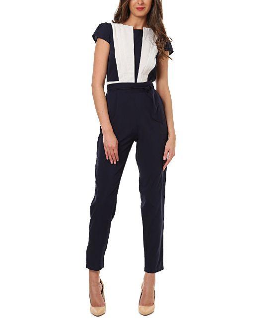 Black & White Colorblock Jumpsuit