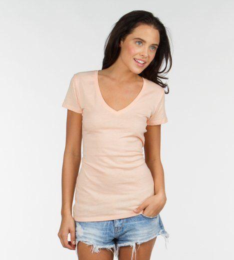 Valorie V Neck-Mintleaf-XS Best fitting and feeling teeshirt