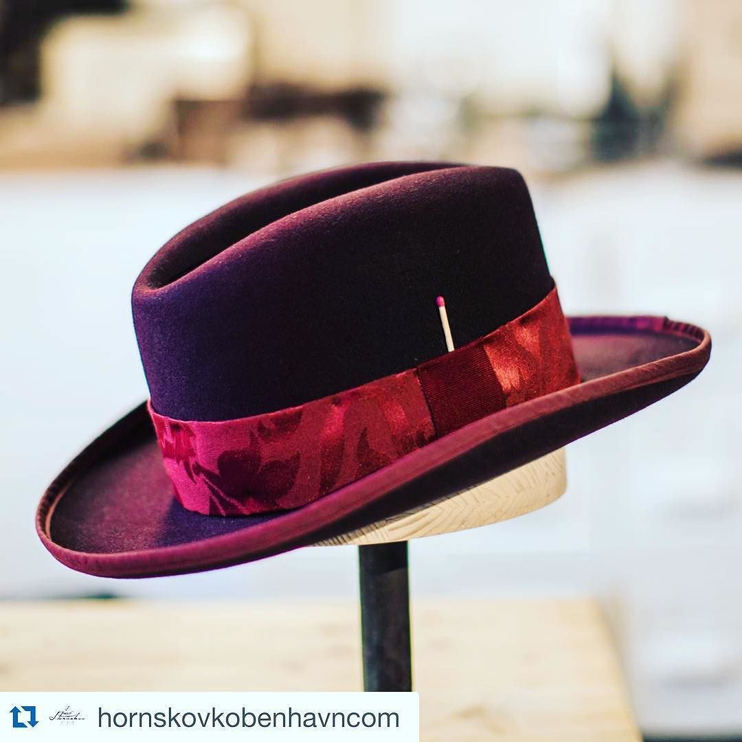 1bc1a7696cf ... homburg with bordeaux paisley trim brim binding and a matchstick from  the collection.  homburg  handmade  custommade  hat  hats  hatmaker   madeindenmark ...