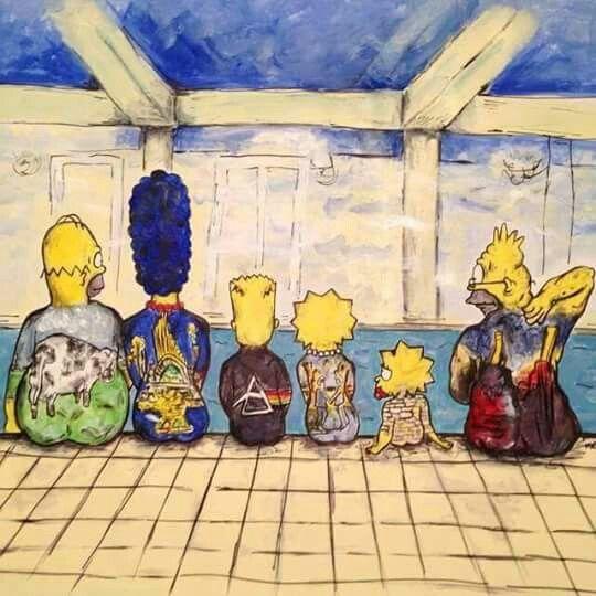 The Simpsons Pink Floyd Cover Art Pink F Ing Floyd In
