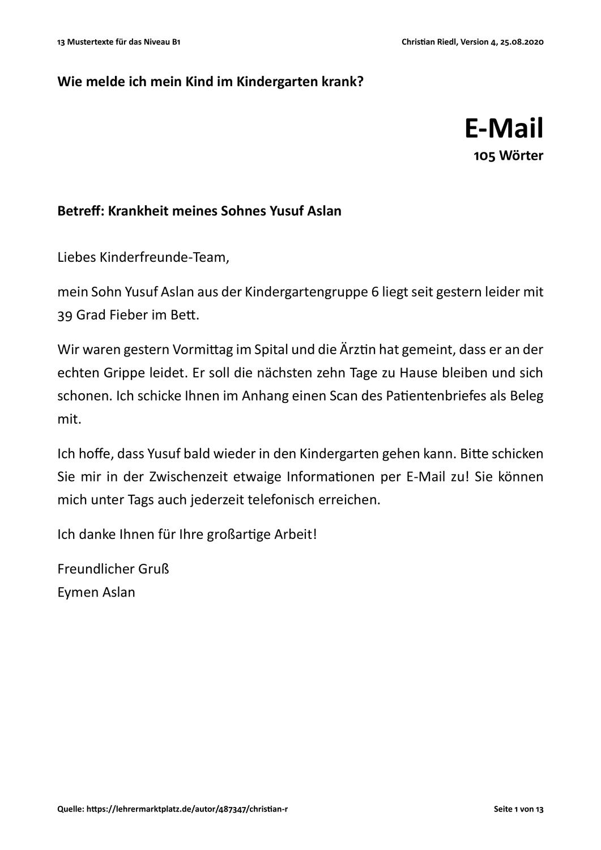 17 Mustertexte Fur Das Niveau B1 Prufungsvorbereitung B1 Unterrichtsmaterial In Den Fachern Daz Daf Deutsch In 2020 Prufungsvorbereitung Unterrichtsmaterial Deutsch Lernen