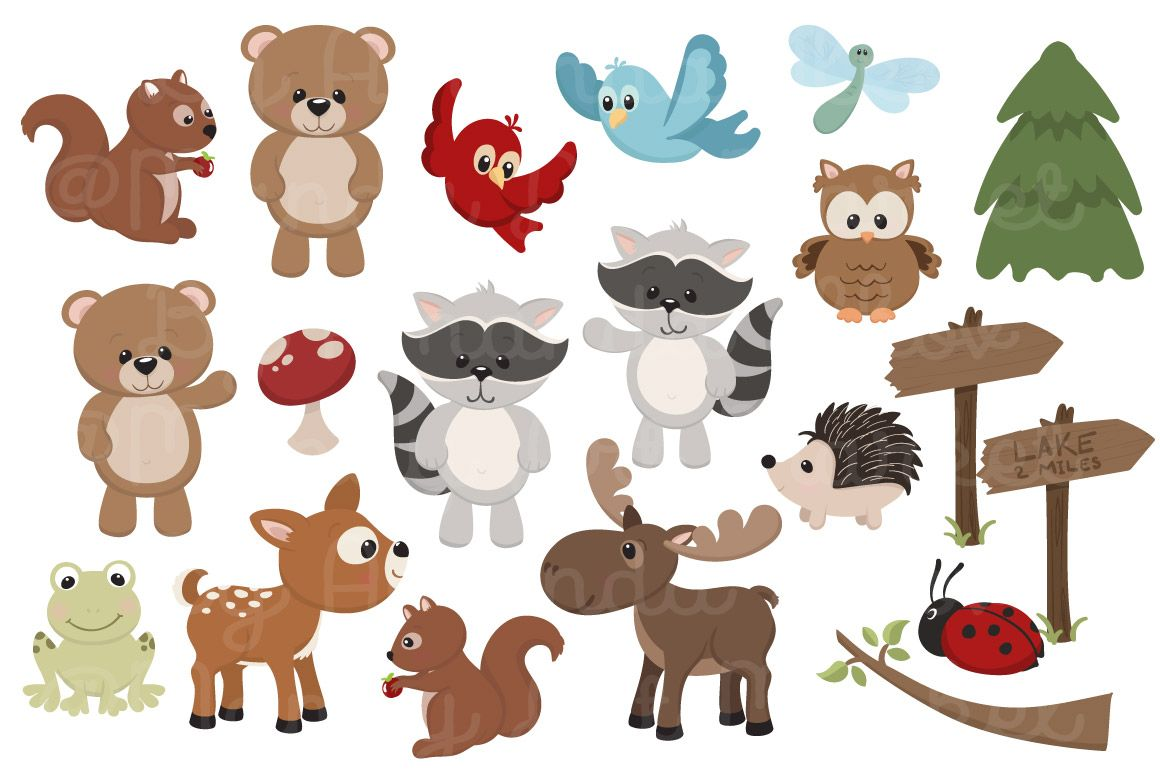 adorable free woodland animals clipart and digital papers by amanda rh pinterest com free animal clipart outline free animal clipart