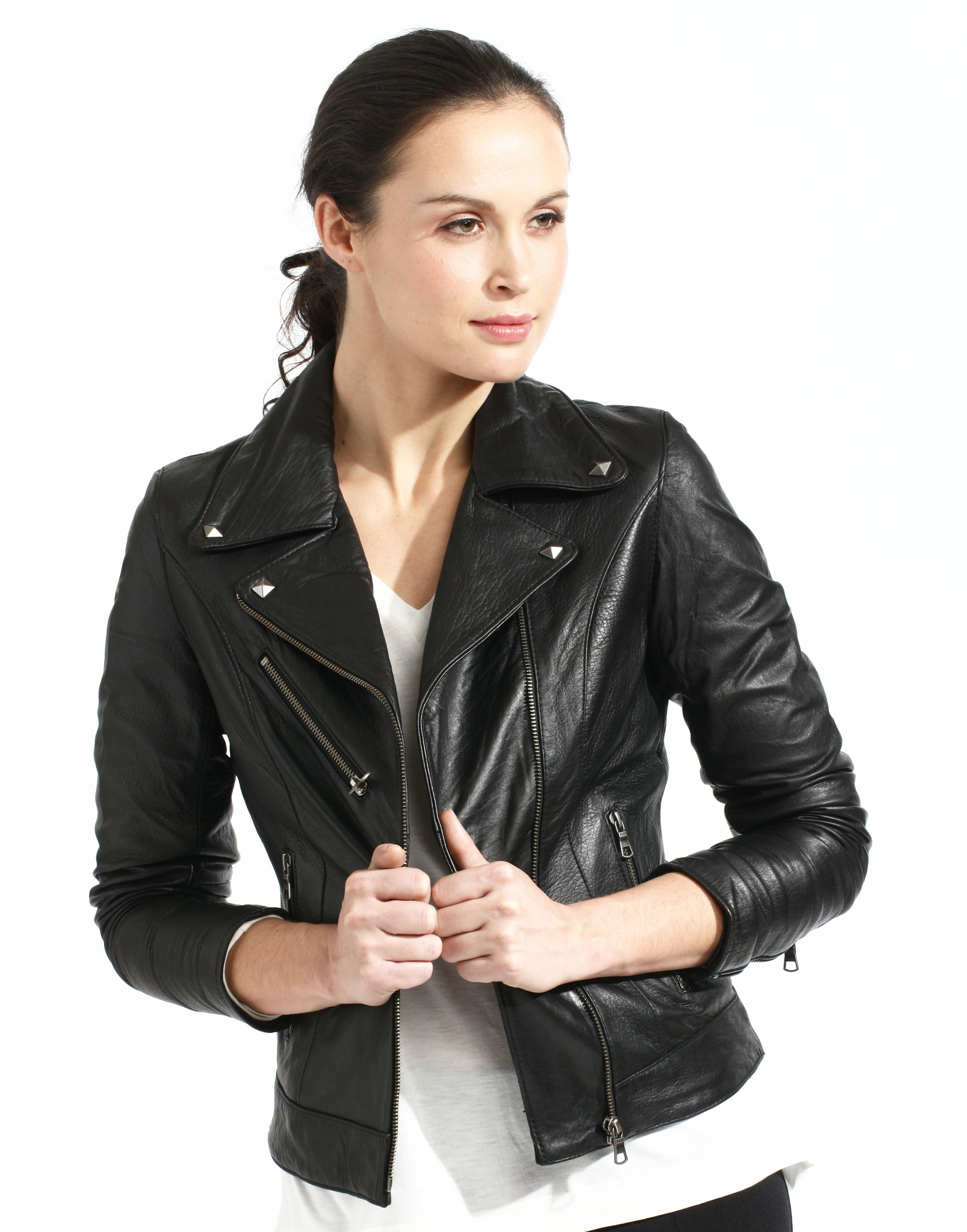 Women Trends Black Leather Jacket For Fall 2015 | Fashion 2015 ...