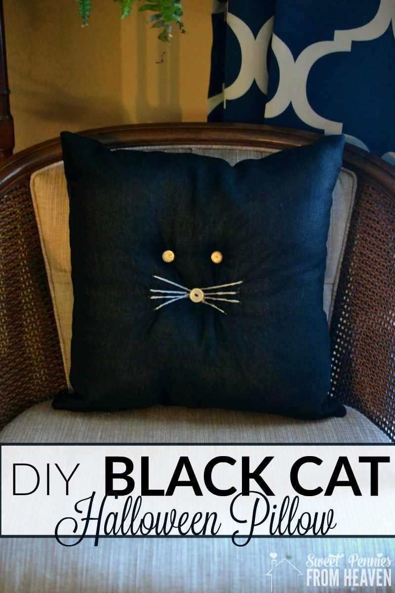 Halloween Crafts: Black Cat Pillows