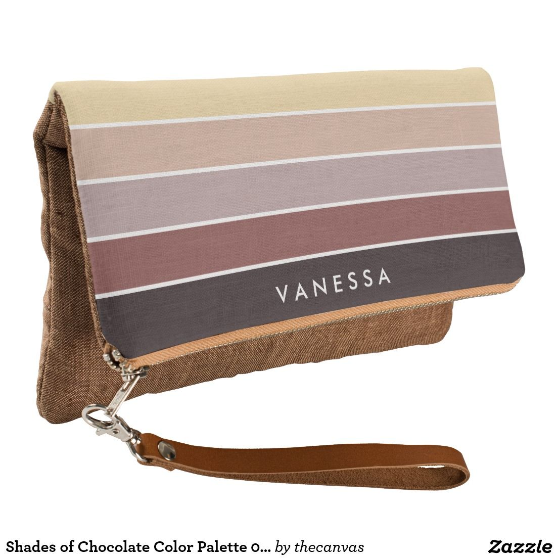 Shades of Chocolate Color Palette 001 Clutch