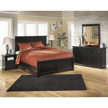 Maribel 7 Pc Bedroom - (3-Pc Queen Panel Bed, Dresser, Mirror