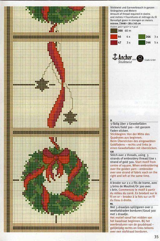 Solo Patrones Punto Cruz | Árboles De Navidad | Pinterest ...