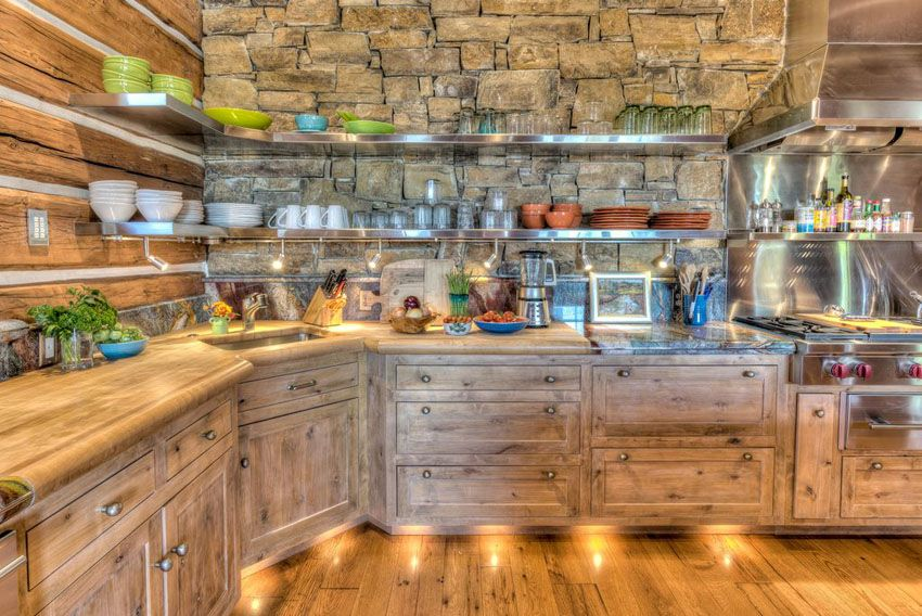 Log Cabin Kitchens (Cabinets & Design Ideas | Wood kitchen ... on homemade bookshelf ideas, homemade backyard ideas, homemade cutting board ideas, homemade cabinet ideas, homemade garage ideas, homemade fireplace ideas, homemade bed ideas, homemade bedroom ideas,