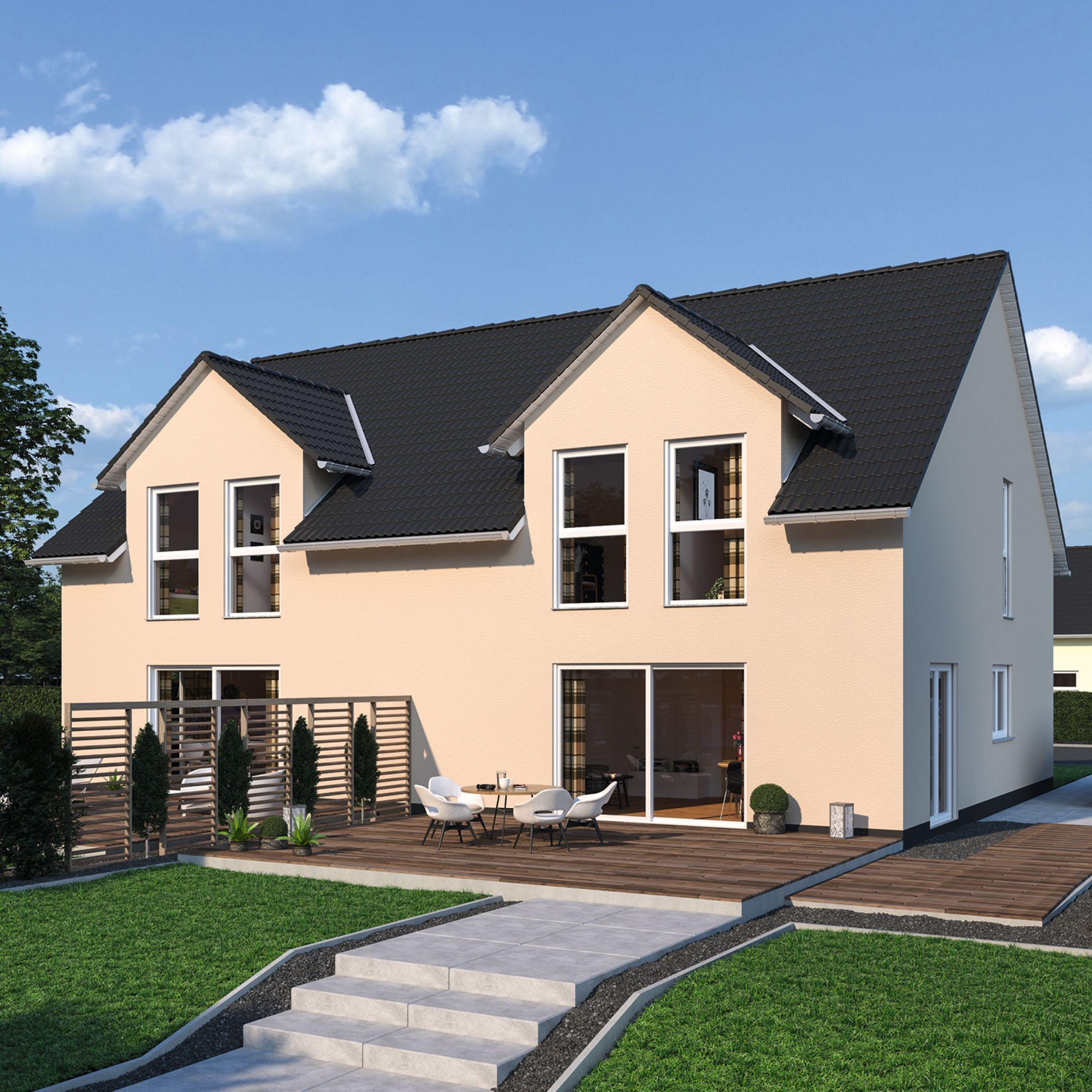 Duplex 111   Schlüsselfertiges Massivhaus #ausbauhaus #schlüsselfertig  #haus #hausbau #bauen #