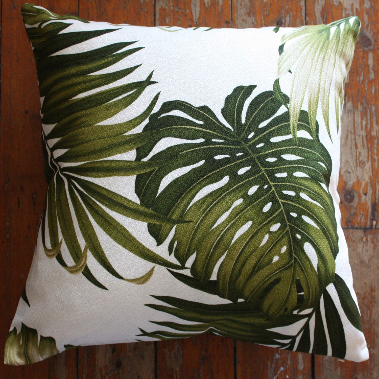 palm leaf barkcloth cushion covers - Homeworks design store