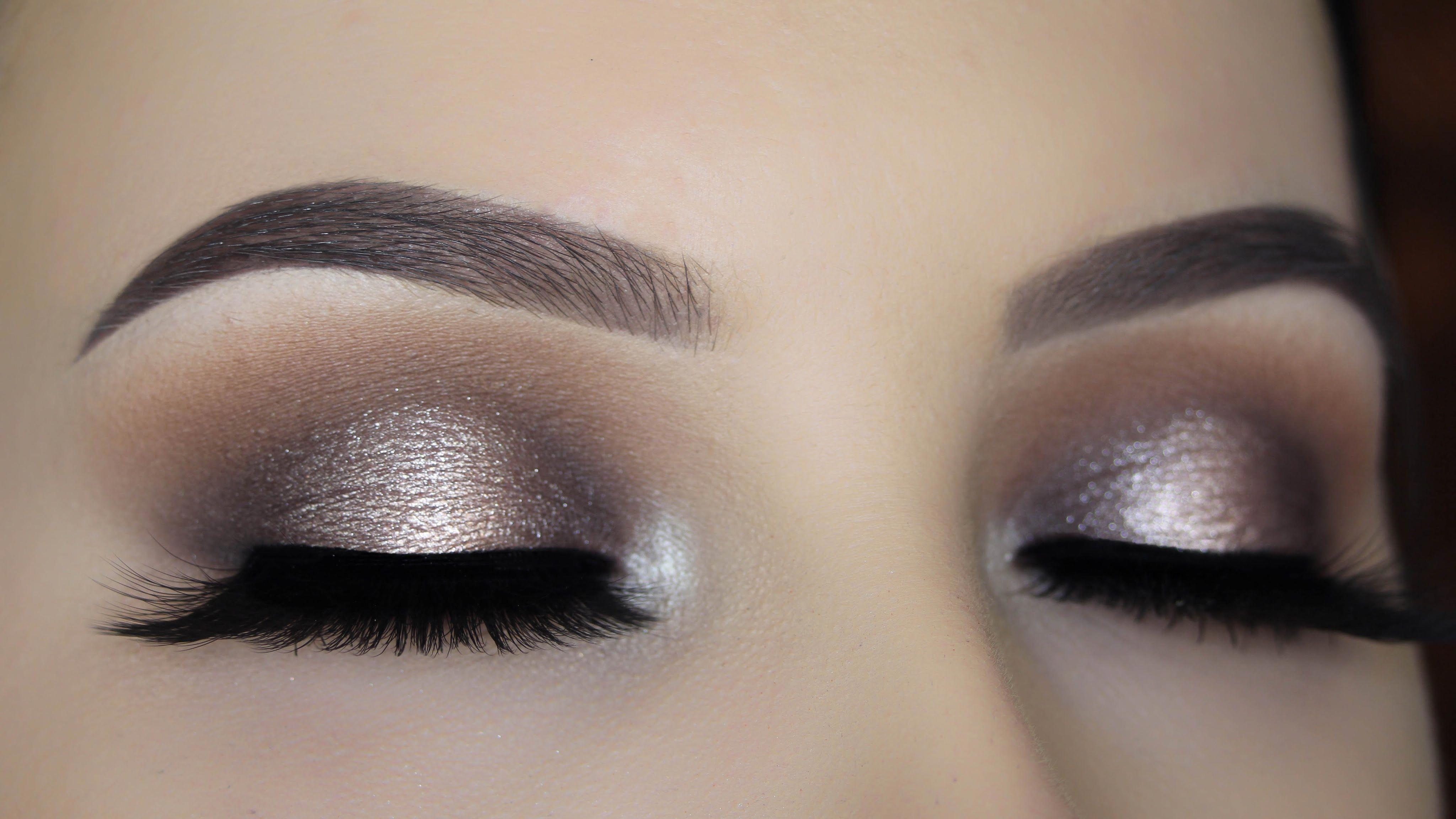 Halo Smokey Eye Makeup Tutorial easyeyemakeup Макияж