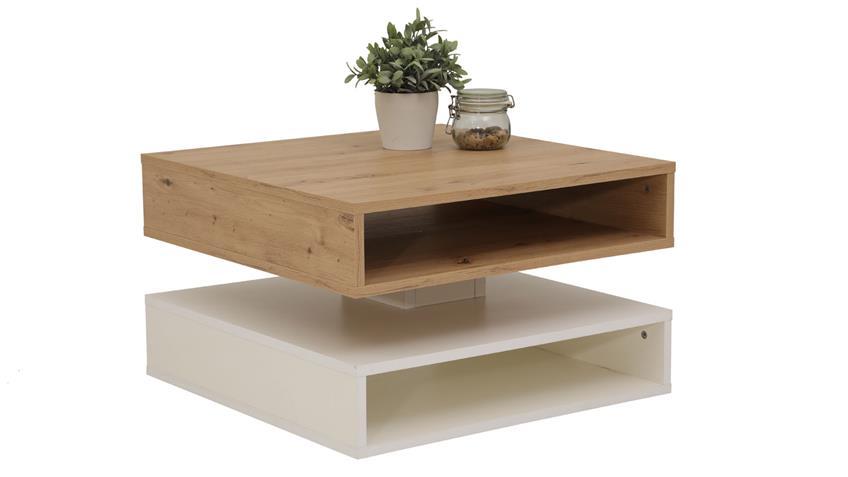 Couchtisch Hannes Weiss Artisan Eiche Drehbar Wohnzimmer In 2020 Couchtisch Wohnzimmertisch Tisch