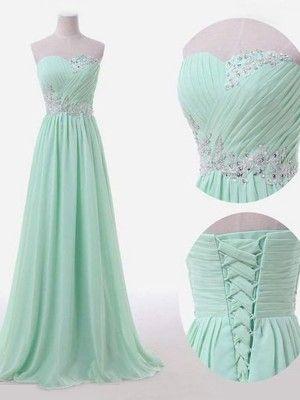 A-Linie/Princess-Linie Ärmellos Herzausschnitt Bodenlang Perlen verziert Chiffon Brautjungfernkleider