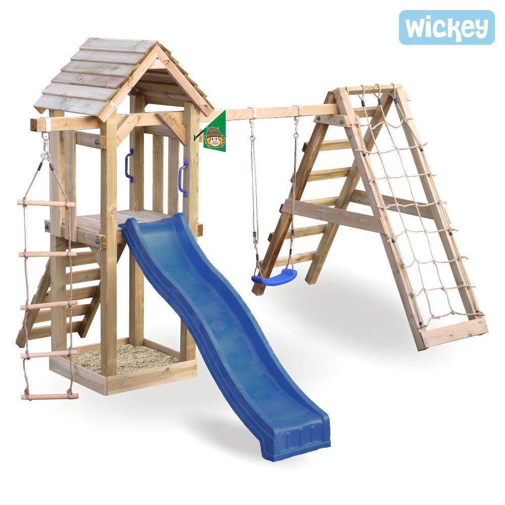 Spielturm Wickey Little Pirate Spielturm Mit Schaukel Und Kletternetz Spielturm Spielturm Mit Schaukel Hinterhof Spielplatz