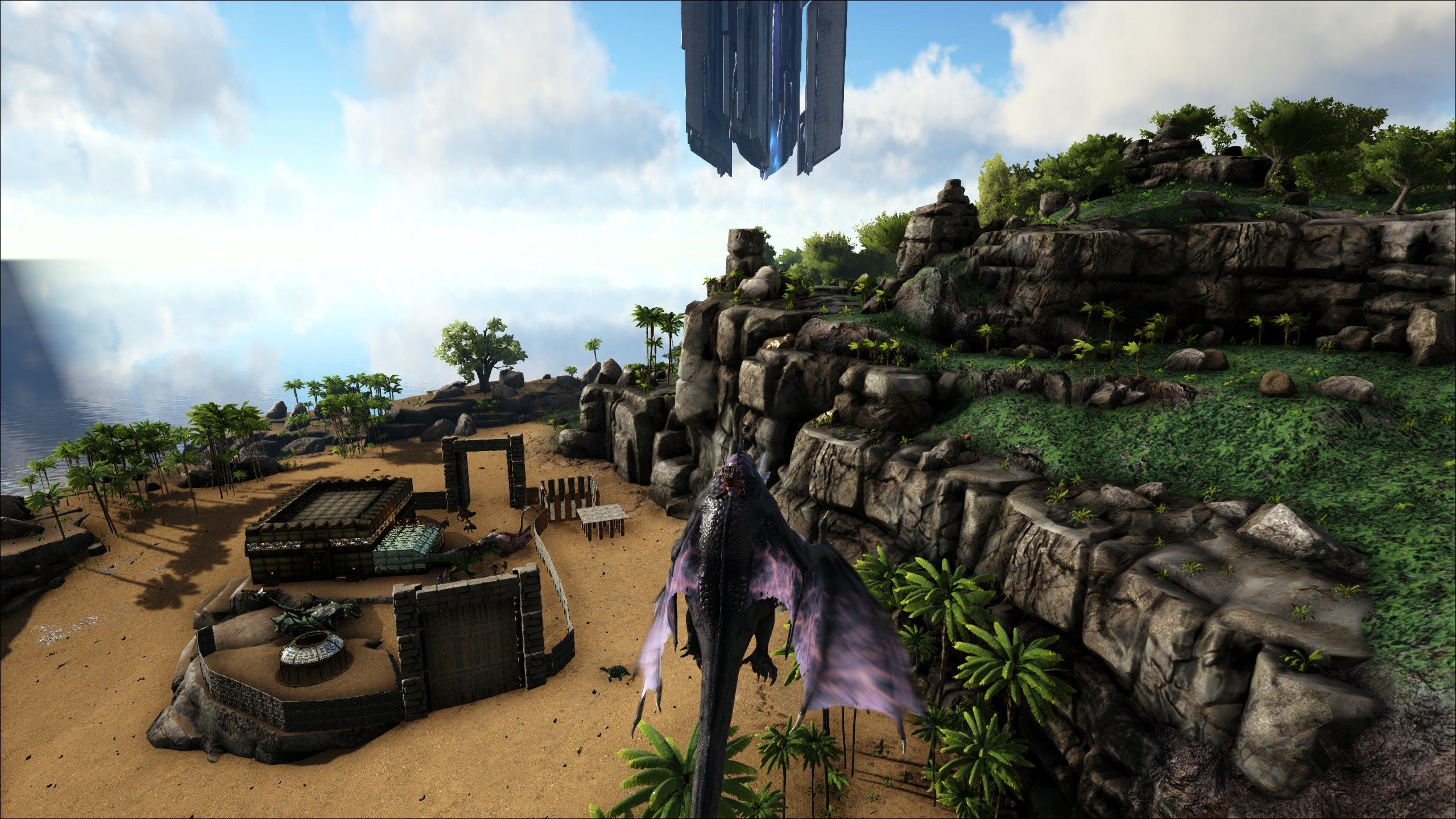 Hybrid looking over Mal's base  Ragnarok PVE | Ark: Survival