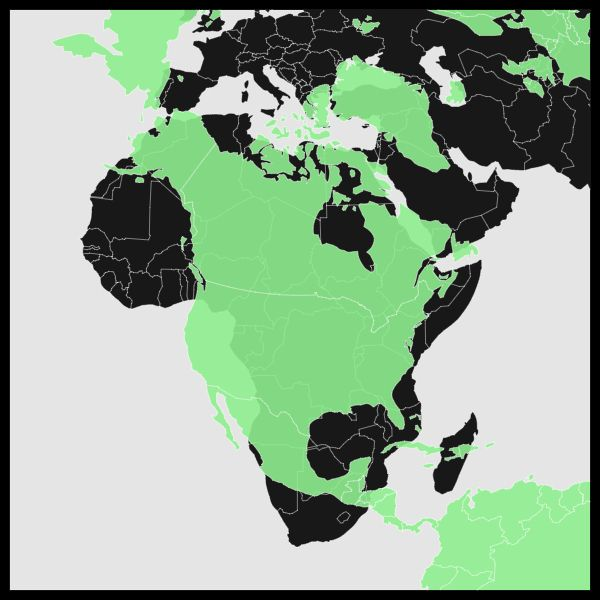 africa map compared to north america
