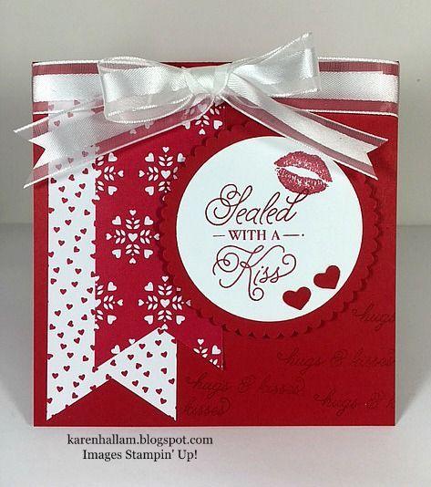 Karens Stampin Habit Sending Love  Sweet Valentines
