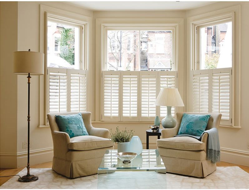 U S Made Wood Shutters Cafe Style Shutters Living Room Blinds Indoor Shutters