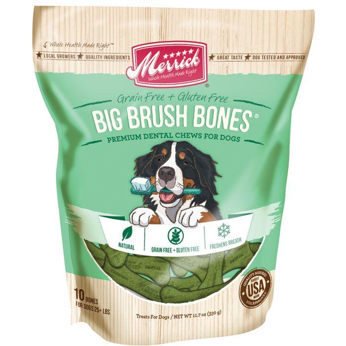 Merrick Big Brush Dental Bones - 12oz | thatpetplace.com #Dog #DogDentalCare #DogDentalTreat #Merrick