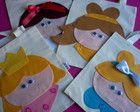 Mini sacola ecológica Princesas