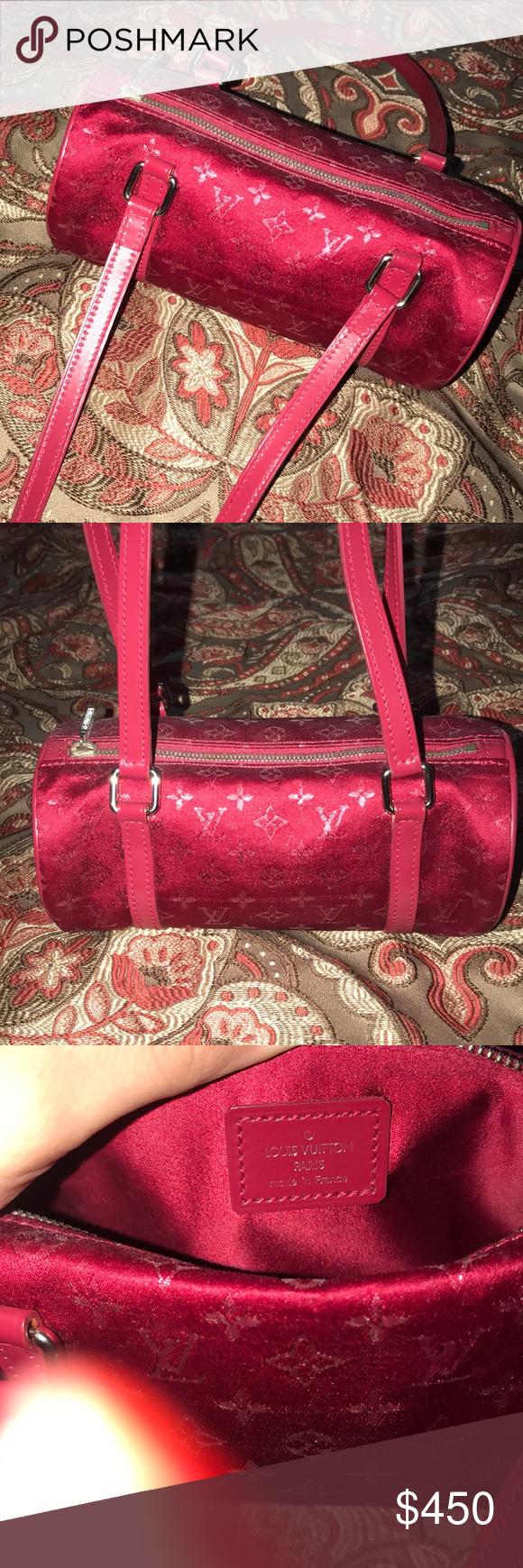 "b8250950bc6b Louis Vuitton Monogram satin Mini Papillon Bag Authentic ! Date code is  TH1002 Width is 7.25"" Depth 3"" Height 3"" Shoulder strap drop 8"" Beautiful  condition ..."