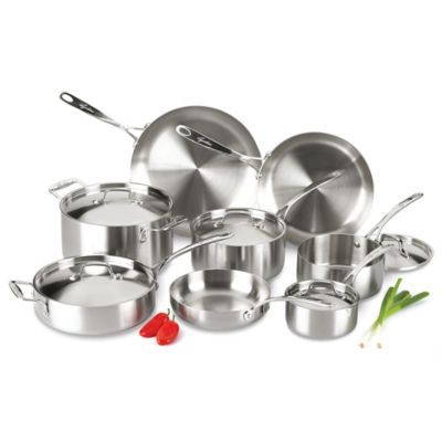 Lagostina Axia 13 Piece Tri Ply Stainless Steel Cookware Set And Open Stock Bedbathandbeyond Com Lagostina Cookware Set Stainless Steel Cookware Set