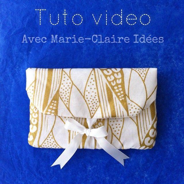 Collaboration avec @marieclaireidees pour un tutoriel en vidéo : une pochette pour la #FeteDesMeres. Voir la vidéo ici : http://buff.ly/1ElcbYw Envoyez-nous vos créations avec #handmadestories . #diy #sewing #couture #cestmoiquilaifait #pouch #pochette #Collab