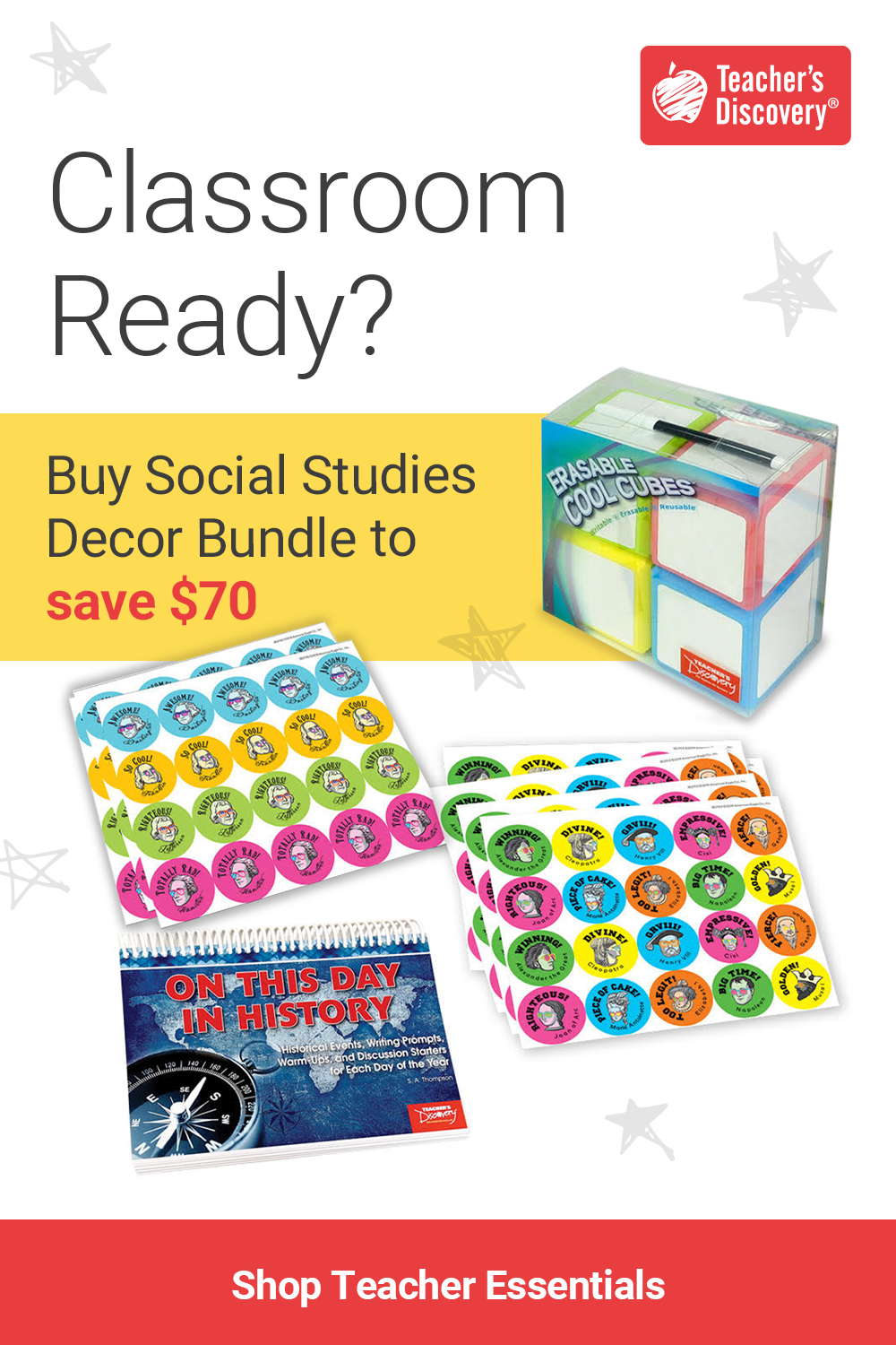Get Classroom Ready With Teacher S Discovery Back To School Bundles School Essentials Back To School Essentials School Bundles [ 1500 x 1000 Pixel ]