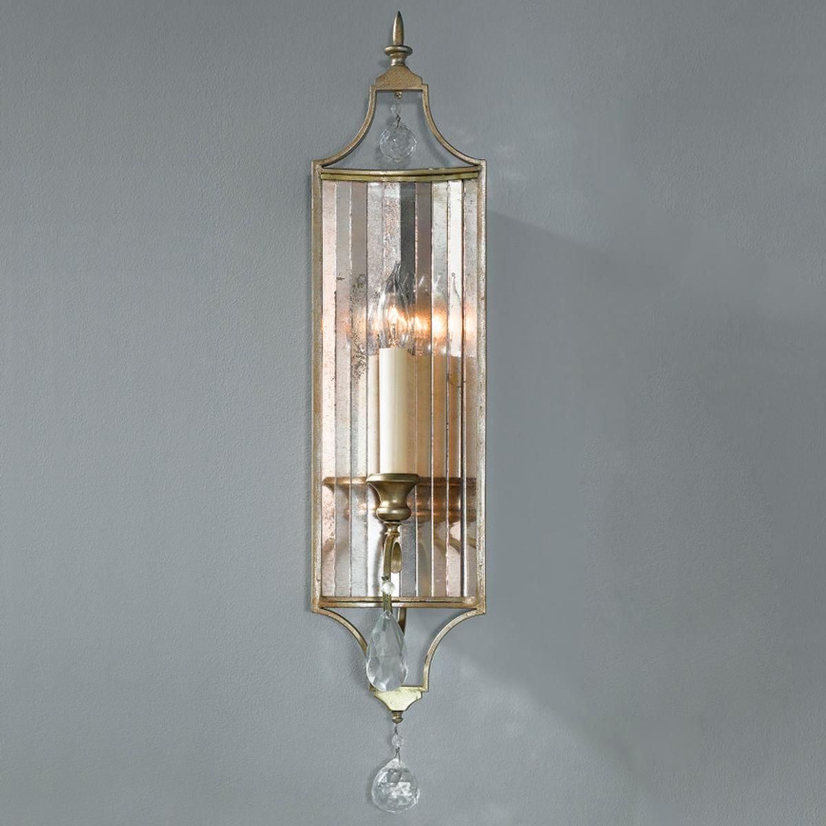 Channel Antiqued Mirror Sconce Foyer Amp Entrance Way