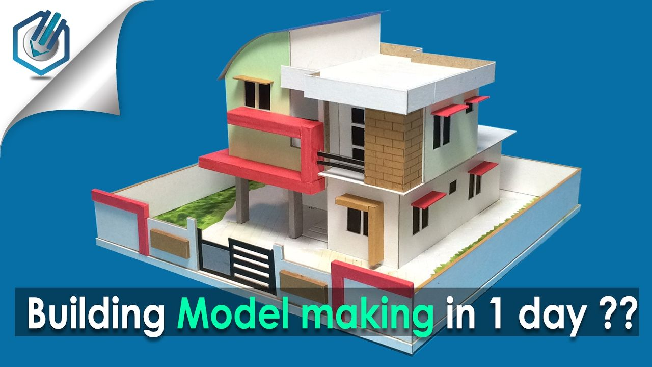 Model making of modern architectural building 8