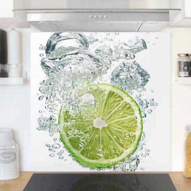 Frisch Cool Praktisch Spritzschutz Aus Glas Für Küchenwand Mit - Küchenwand statt fliesen