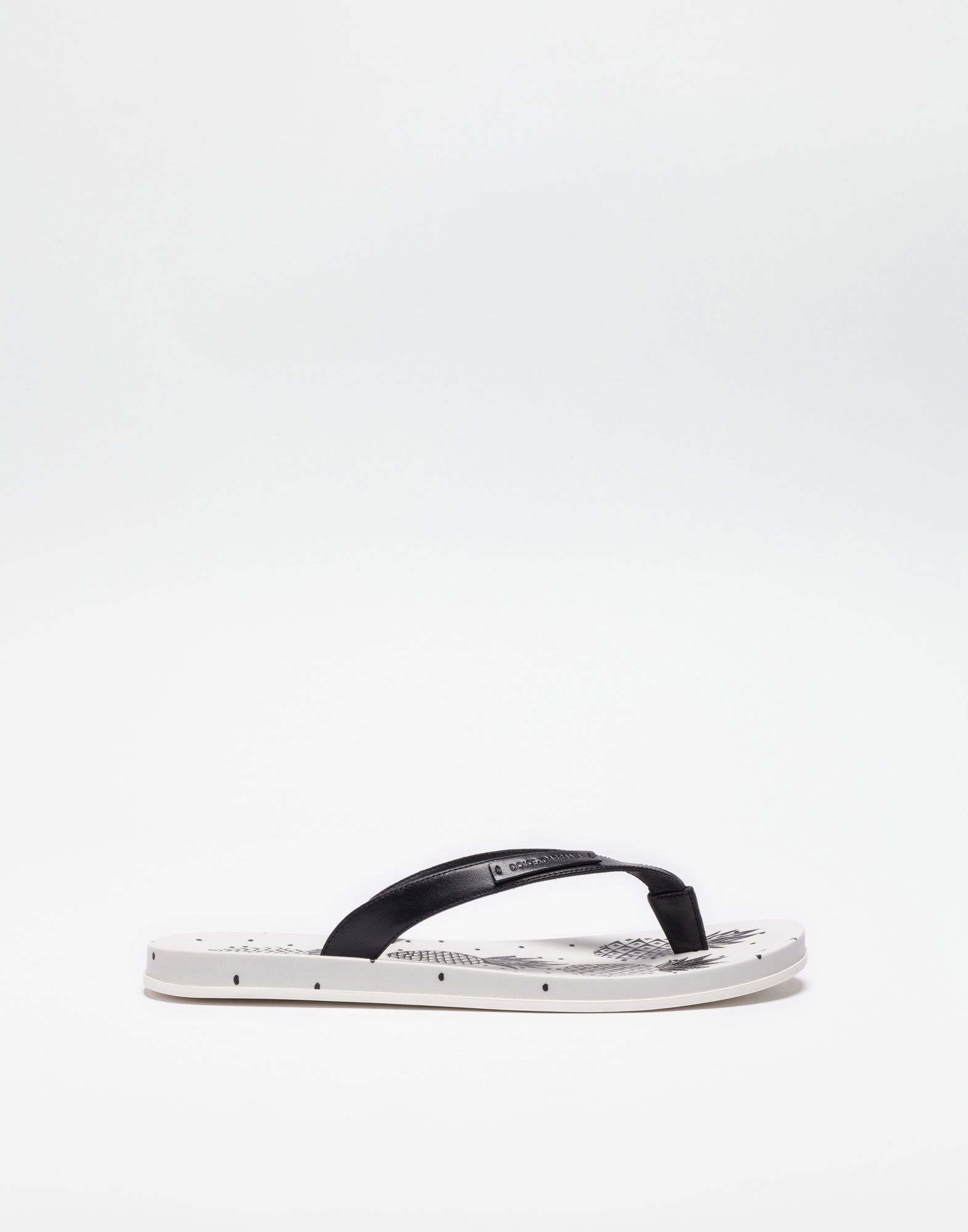 a2d215e901f99c DOLCE   GABBANA Printed Rubber Toe-Thong Sandals.  dolcegabbana  shoes