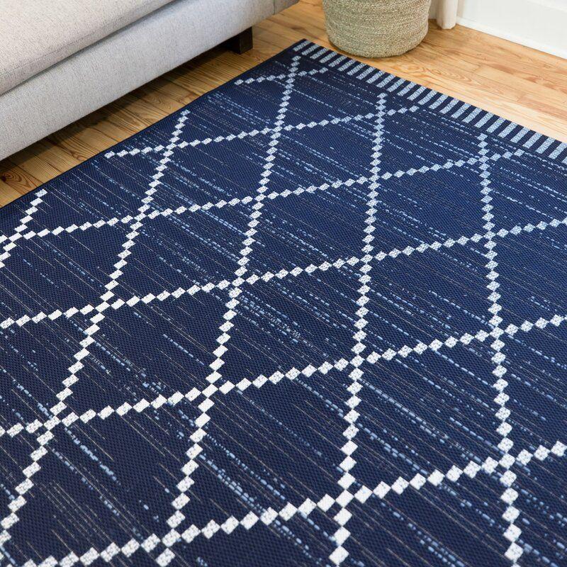 Anoka Geometric Blue Indoor Outdoor Area Rug Area Rugs Outdoor