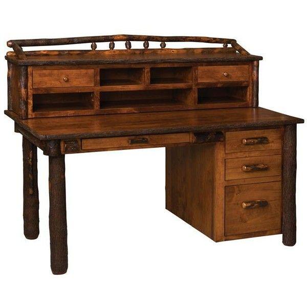 Amish Computer Secretary Desk Armoire Modesto Solid Wood: Amish Rustic Secretary Desk With Optional Organizer