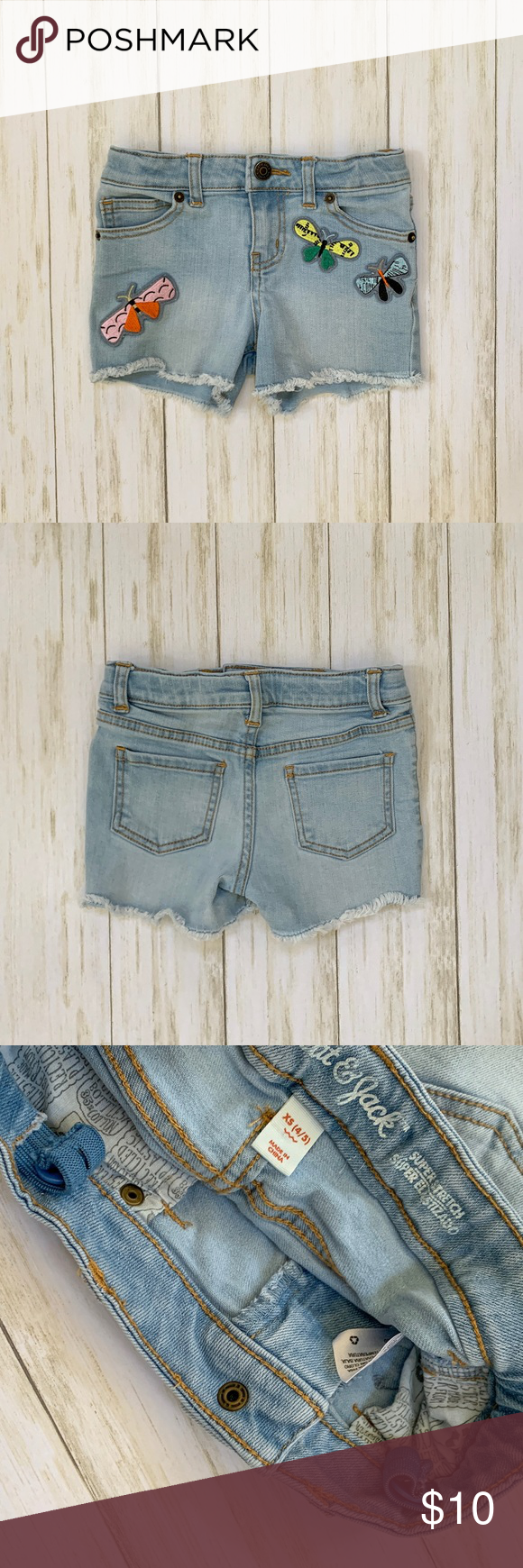 Cat & Jack Dragonfly Denim Cutoff Shorts GUC Cat & Jack Dragonfly Denim Cutoff Short  Size XS (4/5). Some wash wear. Adjustable waistband.   Cat & Jack Dragonfly Denim Cutoff Shorts GUC Cat & Jack Dragonfly Denim Cutoff Short  Size XS (4/5). Some wash wear. Adjustable waistband. #denimcutoffshorts