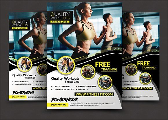 Fitness Flyer - Gym Flyer Templates @creativework247 Flyer - fitness flyer