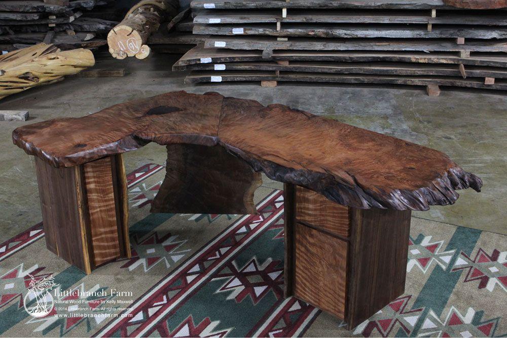rustic desks office furniture. Reclaimed Old Growth Wood Slab Rustic Office Desk Desks Furniture
