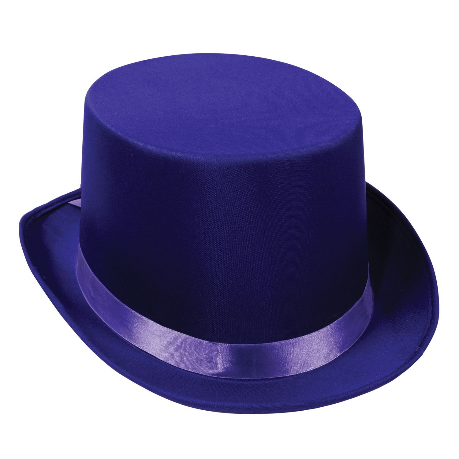 Satin Sleek Top Hat Pack of 6 One size fits most Purple | New Year\'s ...