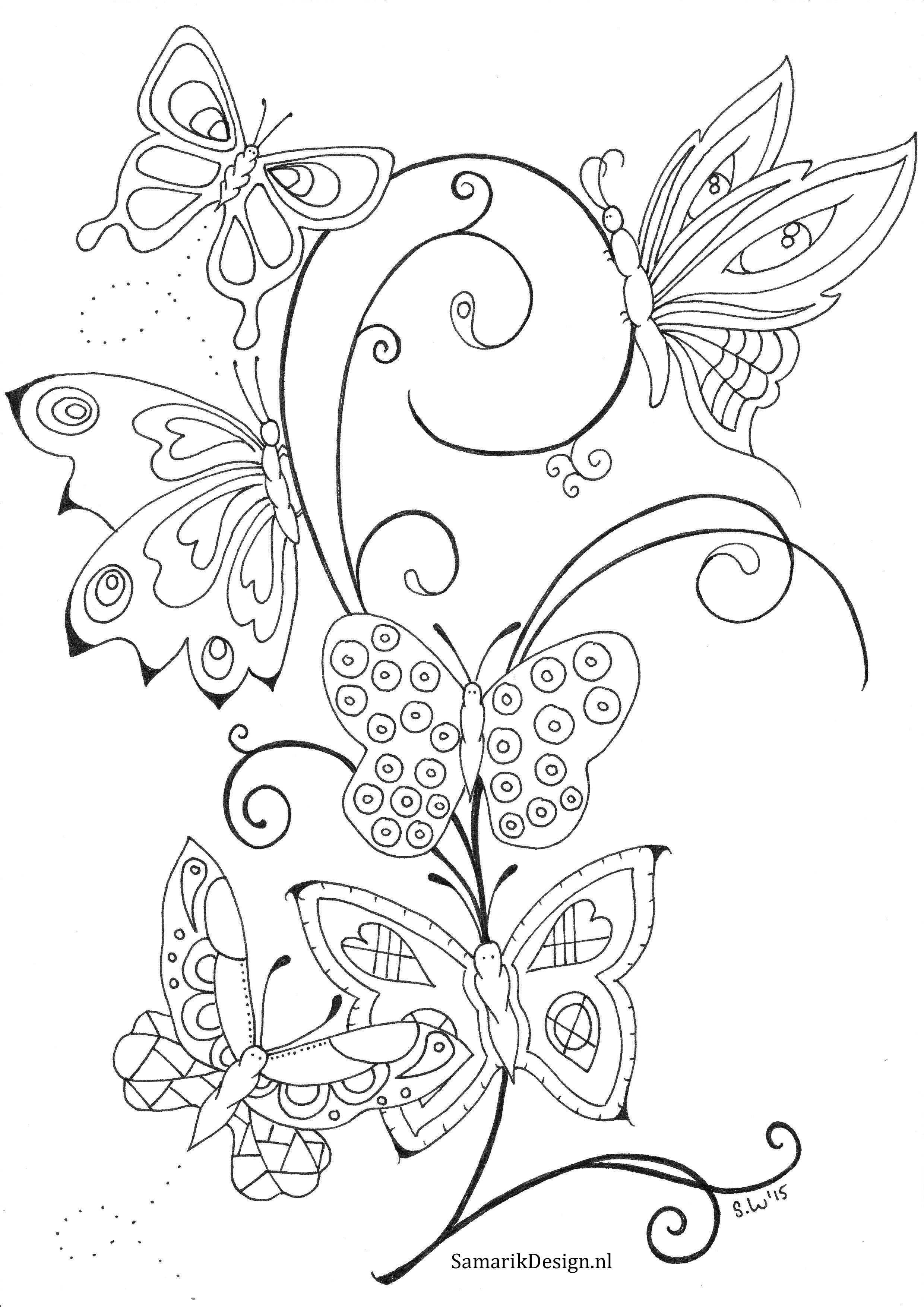 Kleurplaten Vlinders Voor Volwassenen.Kleurplaat Voor Volwassenen Butterflies Knutselclub Pinterest