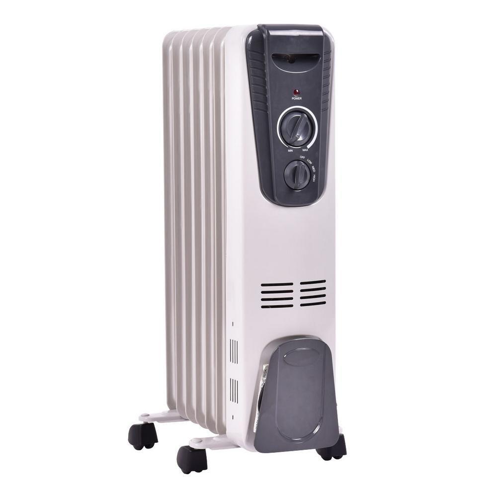 Costway 1500 Watt Electric Oil Filled Radiator Space Heater 5 7