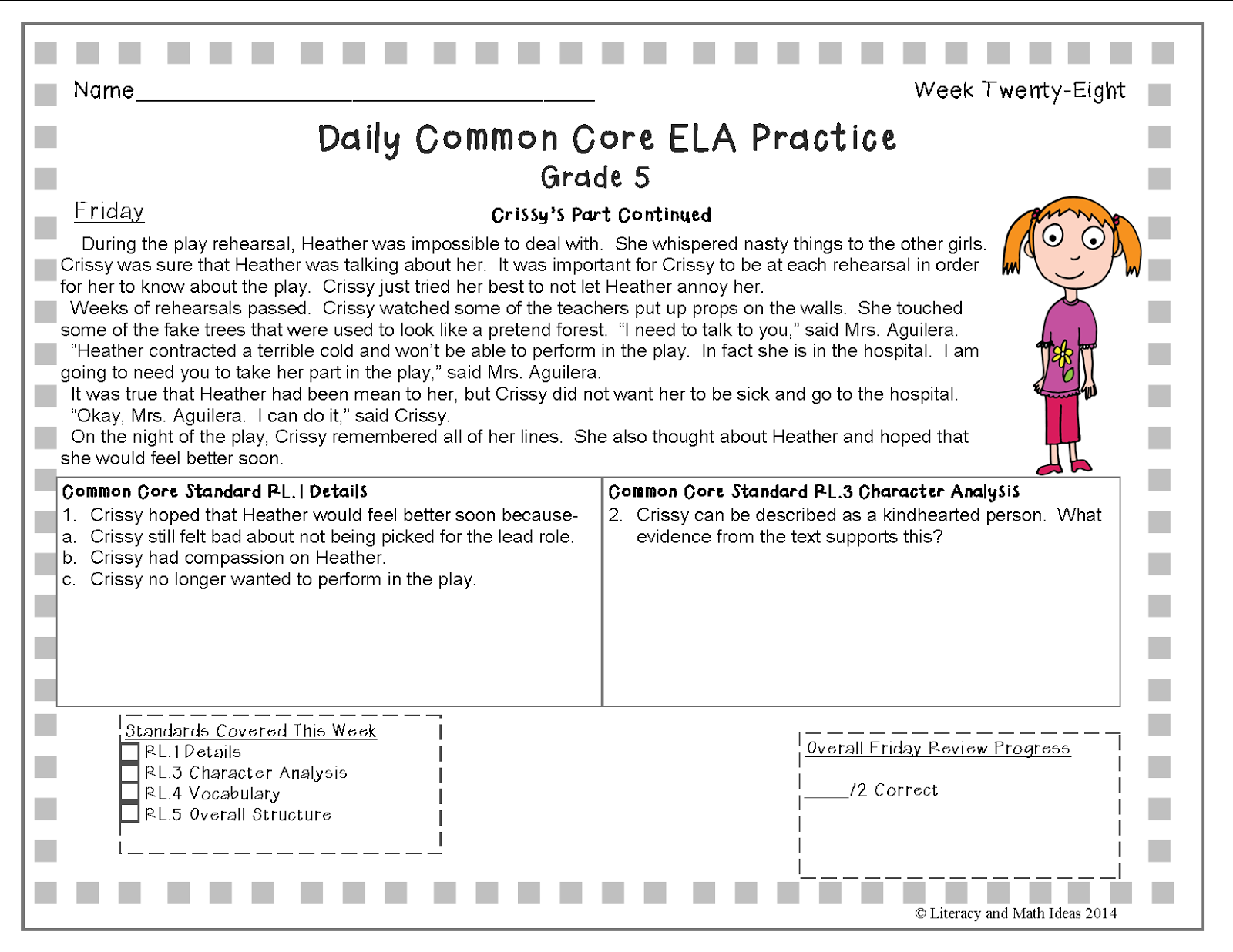 - A Full School Year Of Daily Common Core Reading Practice Grade 5