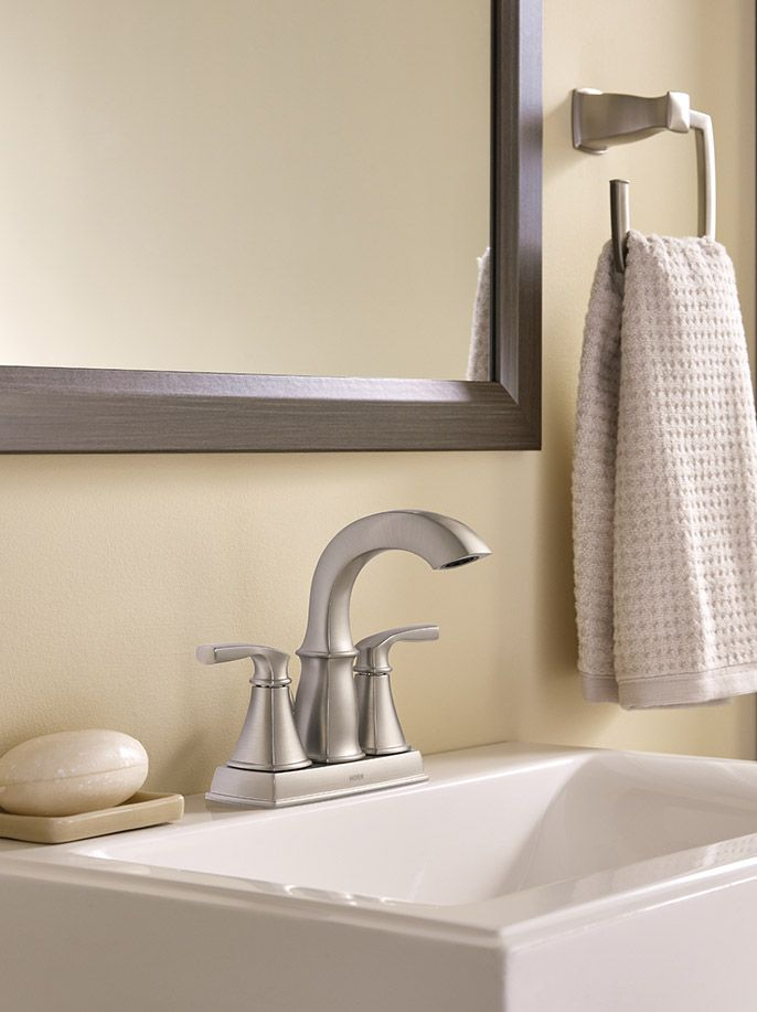 The Hensley Faucet Paired With Matching Accessories Give Your Bathroom A Consistent And Elegant Look