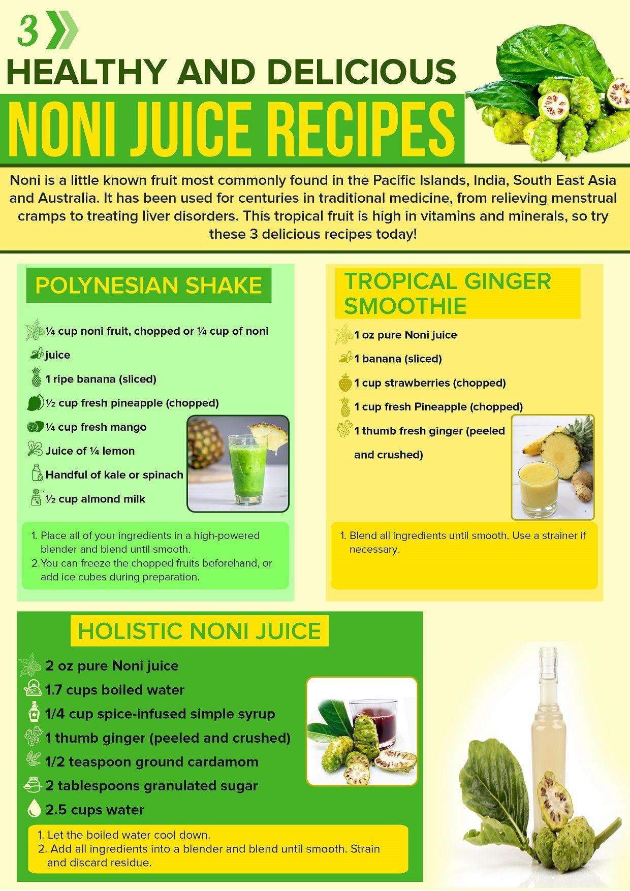 3 Noni Juice Recipes Benefits Of This Superfruit Health