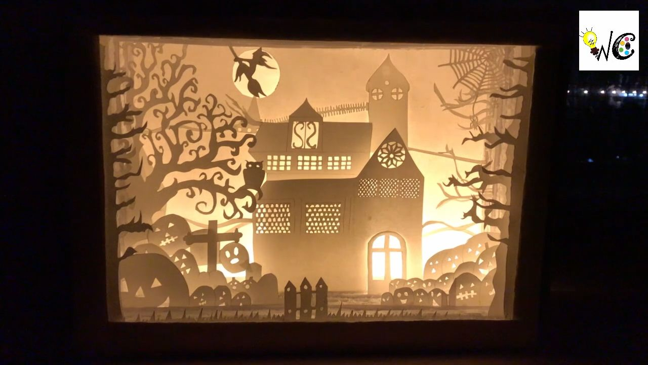 3d Shadow Box Free Templates Available Video Paper Crafts Paper Cutout Art Shadow Box