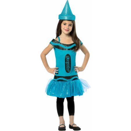Steel Blue Crayola Child Halloween Costume, Girl's, Size: Large