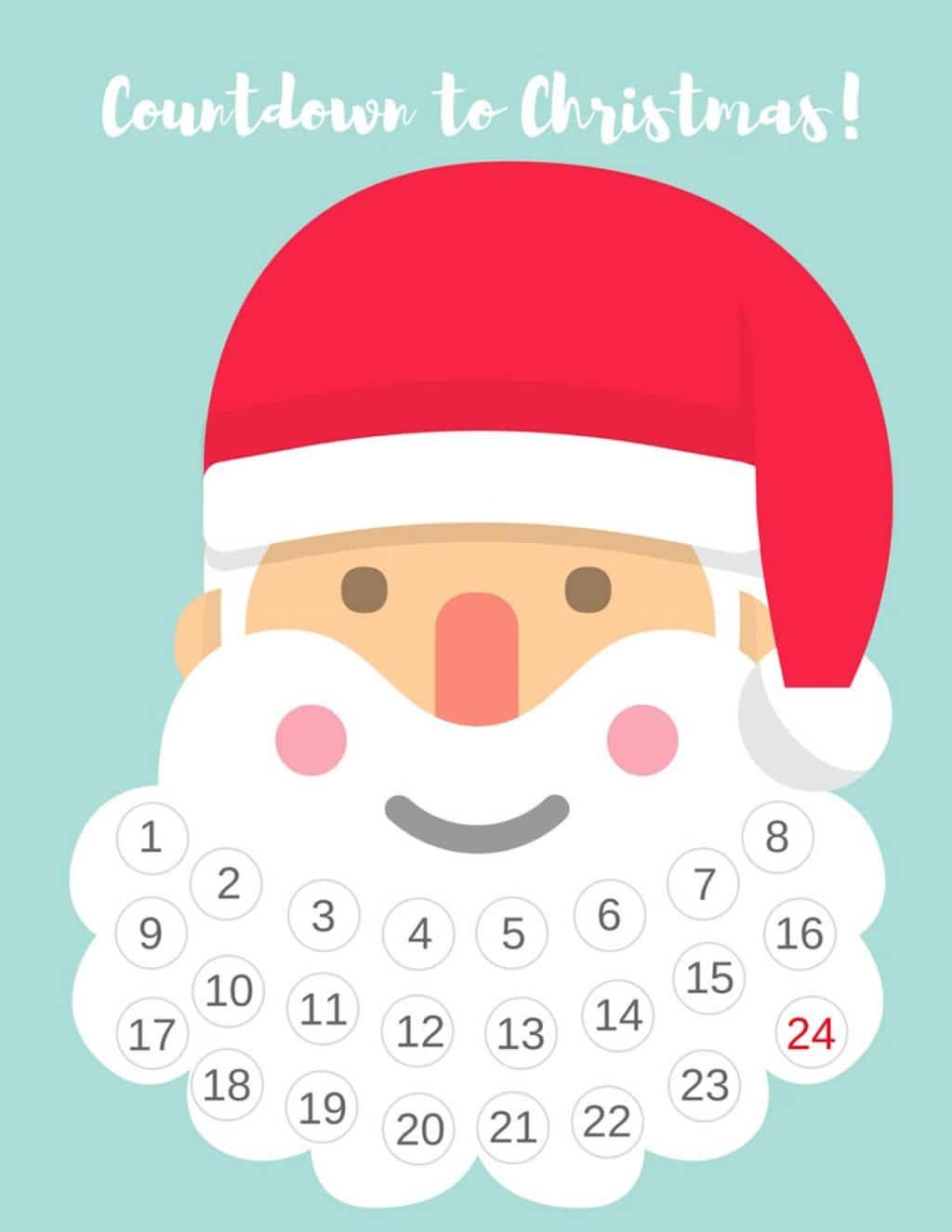printable countdown to christmas calendar   Kerst ...